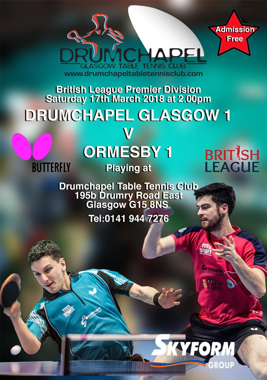 British League Premier Match Drumchapel v Ormesby