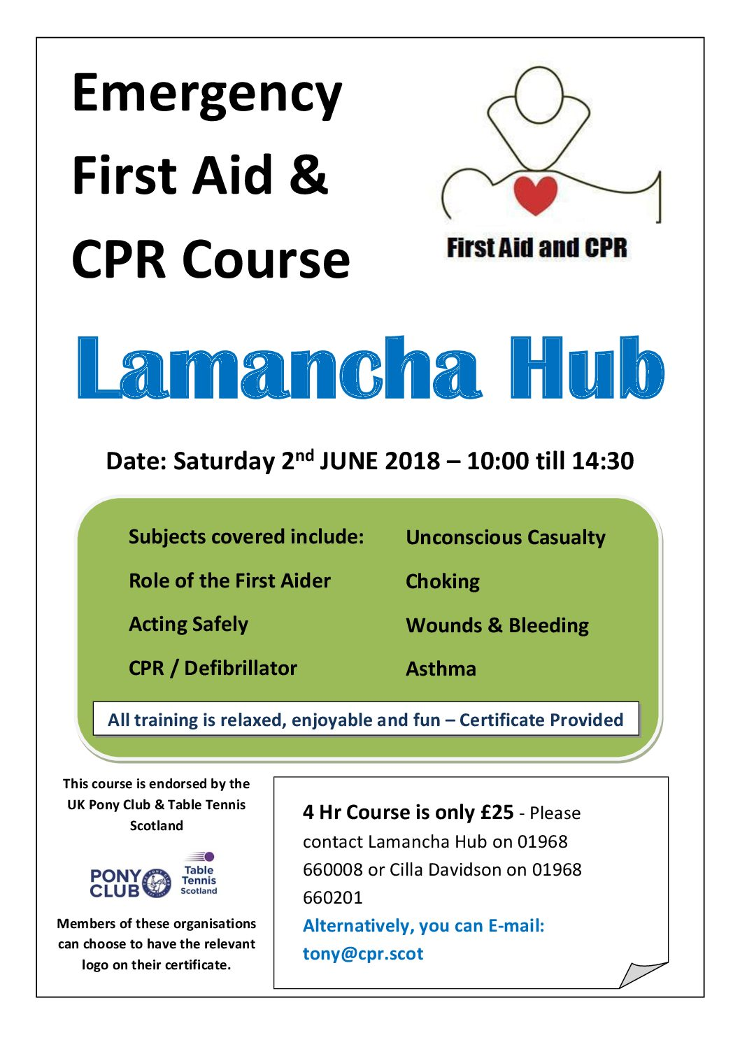 Emergency First Aid & CPR Course