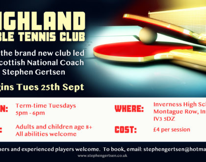 New Highland Table Tennis Club