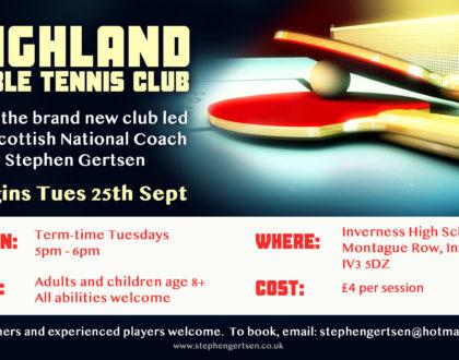 New Highland Table Tennis Club