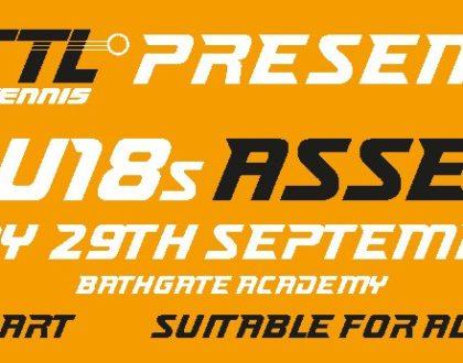 U13s & U18s Assessment - Saturday 29th Sept