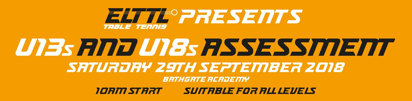 U13s & U18s Assessment - Saturday 29th Sept