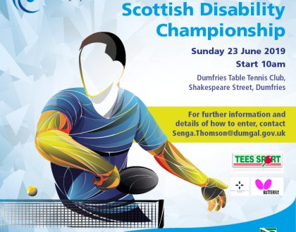 Good luck to all playing in the Scottish Disability Open event in Dumfries today