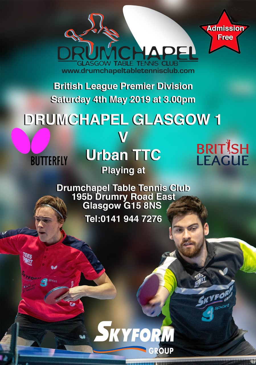 British Premier League Drumchapel V Urban TTC